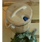 Запарник  20л (кедр) с пластикой вставкой и крышкой- в наличии 2шт